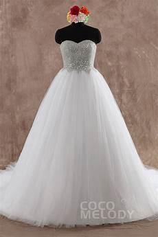 cocomelody princess sweetheart chapel train wedding dress