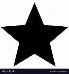 Star Vectors Free Minimalistic Black Star Icon Template Royalty Free Vector