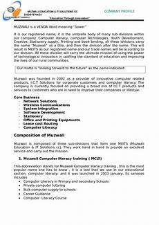 Company Profile Format In Word Free Download Free 18 Simple Company Profile Templates In Doc
