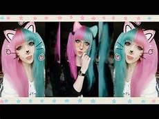 Half Pink Half Blue Adorable Half Pink Half Blue Hair Look Vpfashion Youtube