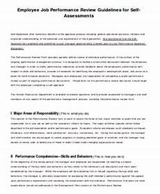 Sample Self Assessment For Work Free 5 Job Self Assessment Samples In Ms Word Pdf