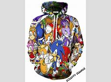Sonic and Friends All Over Print Hoodie   Scruffy Swanks