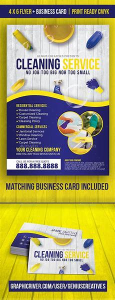 Examples Of Cleaning Business Flyers Cleaning Service Cleaning Business Flyer By