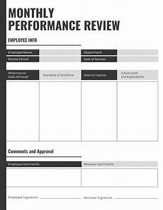 Staff Review Template 7 Highly Customizable Employee Performance Review