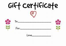 Make Gift Certificates Online Free Homemade Gift Certificate Ideas To Give To A Grandparent