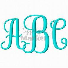 monogram alphabet applique design