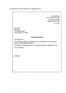 Short Cover Letters Letter Of Application Short Letter Of Application Sample