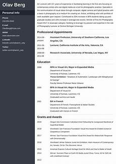 Sample Of A Cv Format 500 Cv Examples A Curriculum Vitae For Any Job Application