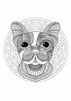 Malvorlage Hund Mandala Pin Auf Coloring