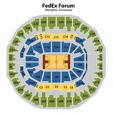 Fedex Seating Chart Fedex Forum