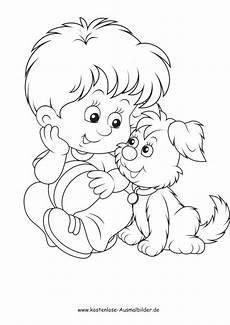 kostenlose ausmalbilder ausmalbild kleines mit hund