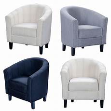 modern linen fabric tub chair armchair dining living room