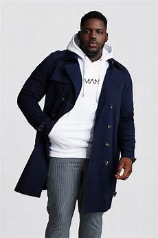 big mans breasted coats big and breasted trench coat boohooman