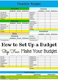 How To Make A Household Budget Spreadsheet How To Set Up A Budget Make Your Budget Setting Up A