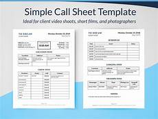 Call Sheet Template Excel Simple Call Sheet Template Word Doc Sethero
