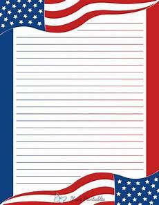 American Flag Watermarks Printable American Flag Stationery