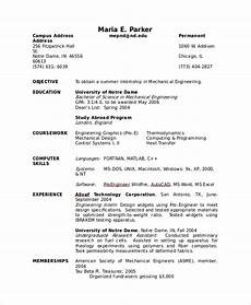Sample Cv For Engineering Students Free 8 Sample Cv Templates In Ms Word Pdf