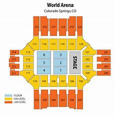 World Arena Detailed Seating Chart Broadmoor World Arena Colorado Springs Tickets