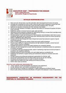 chief accountant duties executive chef job description
