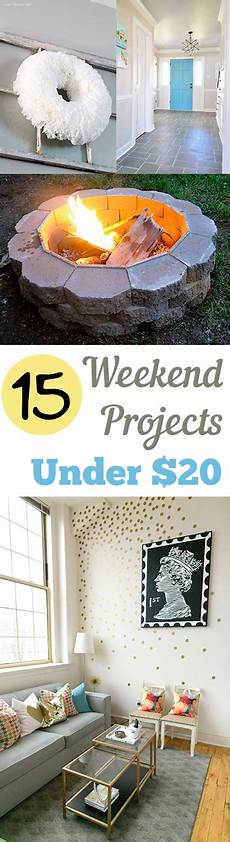 15 weekend projects 20 my list of lists