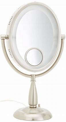 Jerdon Lighted Mirror Jerdon Hl9510n 8 Inch Two Sided Oval Halo Lighted Vanity