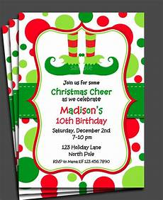 Free Evites For Holiday Party Items Similar To Christmas Elf Invitation Printable Or