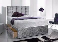 silver new crush velvet divan bed in 2019 velvet