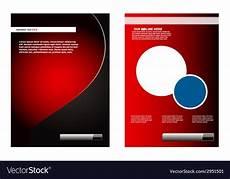 Background Leaflet Design Leaflet Design Element Red Background Royalty Free Vector