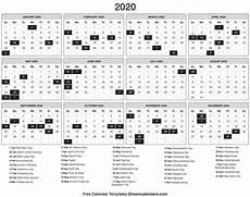 One Year Calendar 2020 Blank Printable 2020 Yearly Calendar On We Heart It
