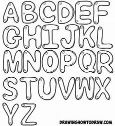 Cool Fonts To Draw On A Poster How To Draw Bubble Letters In Easy Step By Step Drawing