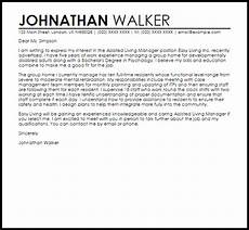Assisted Living Director Cover Letter Assisted Living Manager Cover Letter Sample Cover Letter