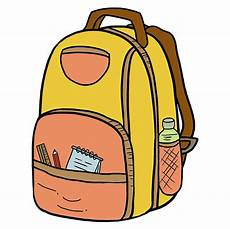 how to draw a backpack really easy drawing tutorial