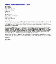 Negotiating A Job Offer Sample Letter Salary Negotiation Letter 4 Free Word Documents Download