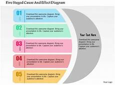 Cause And Effect Power Point Five Staged Cause And Effect Diagram Flat Powerpoint