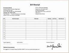 Medicine Bill Format In Word Formal Bill Receipt Template Word Amp Excel Templates