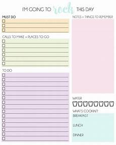 Free Printable Daily Planner Template Daily Planner Free Printable2 Mrs Happy Homemaker