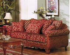 sofa burgundy gold floral chenille fabric