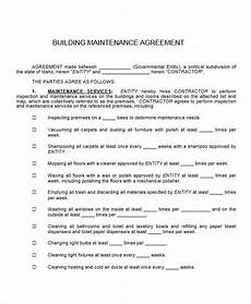 Maintenance Contract Sample Free 17 Maintenance Contract Templates In Pages Ms Word