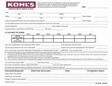 Pdf Job Application Download Kohl S Job Application Form Pdf Freedownloads Net