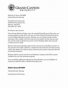 Sample Letter Of Recommendation For New Graduate Nurse Recommendation Letter For Cesljar