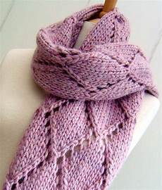 knitting scarves knitting pattern for easy lace scarf knit