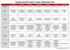 Insanity Food Plan Insanity Max30 Clean Eating Meal Plan Week 2 Join My