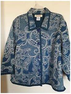 Norm Thompson Size Chart Norm Thompson Womens Jacket Quilted Floral Print Lined
