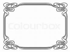 jugendstil ornamentalen dekorativen rahmen vektorgrafik