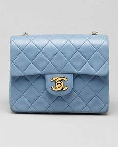 Chanel Mini Light Blue Chanel Light Blue Mini Quilted Leather Flap Bag Chanel