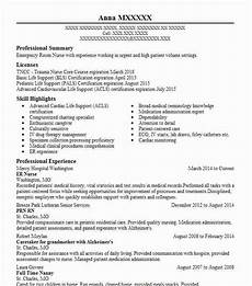 Emergency Room Rn Resumes Er Nurse Resume Sample Nursing Resumes Livecareer