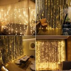 How To Make A String Light Curtain Pin On Light Fixtures