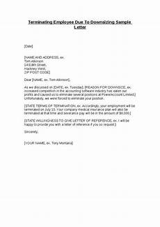 Employee Termination Letter Sample Terminating Employee Due To Downsizing Sample Letter