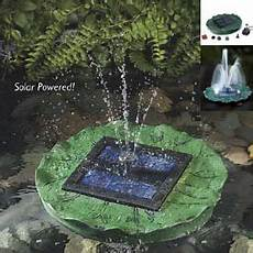 Solar Waterfall Lights Floating Solar Lily Fountain With Battery And Led Lights