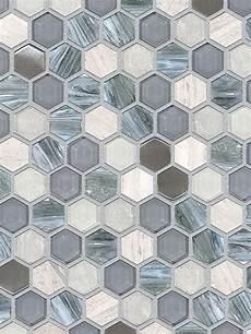 blue tile kitchen backsplash blue gray hexagon glass marble mosaic backsplash